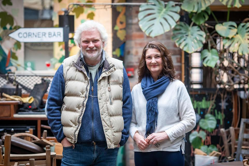 Colin Clydesdale and Carole Wright, owners of Ubiquitous Chip, Glasgow