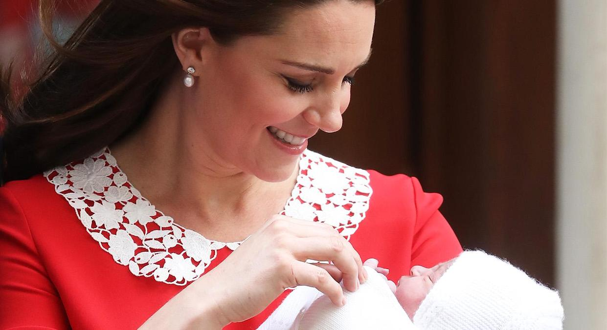 Kate Middleton took less than six months off after giving birth to Prince Louis. [Photo: Getty]