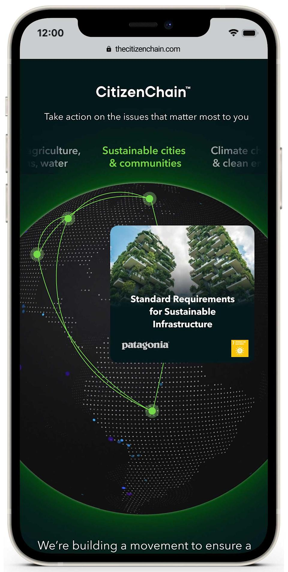 USCS CitizenChain ™ is a new digital platform that gives people the opportunity to lend their voice to support brands and organizations within the SustainChain community on the sustainability issues that matter most to them.