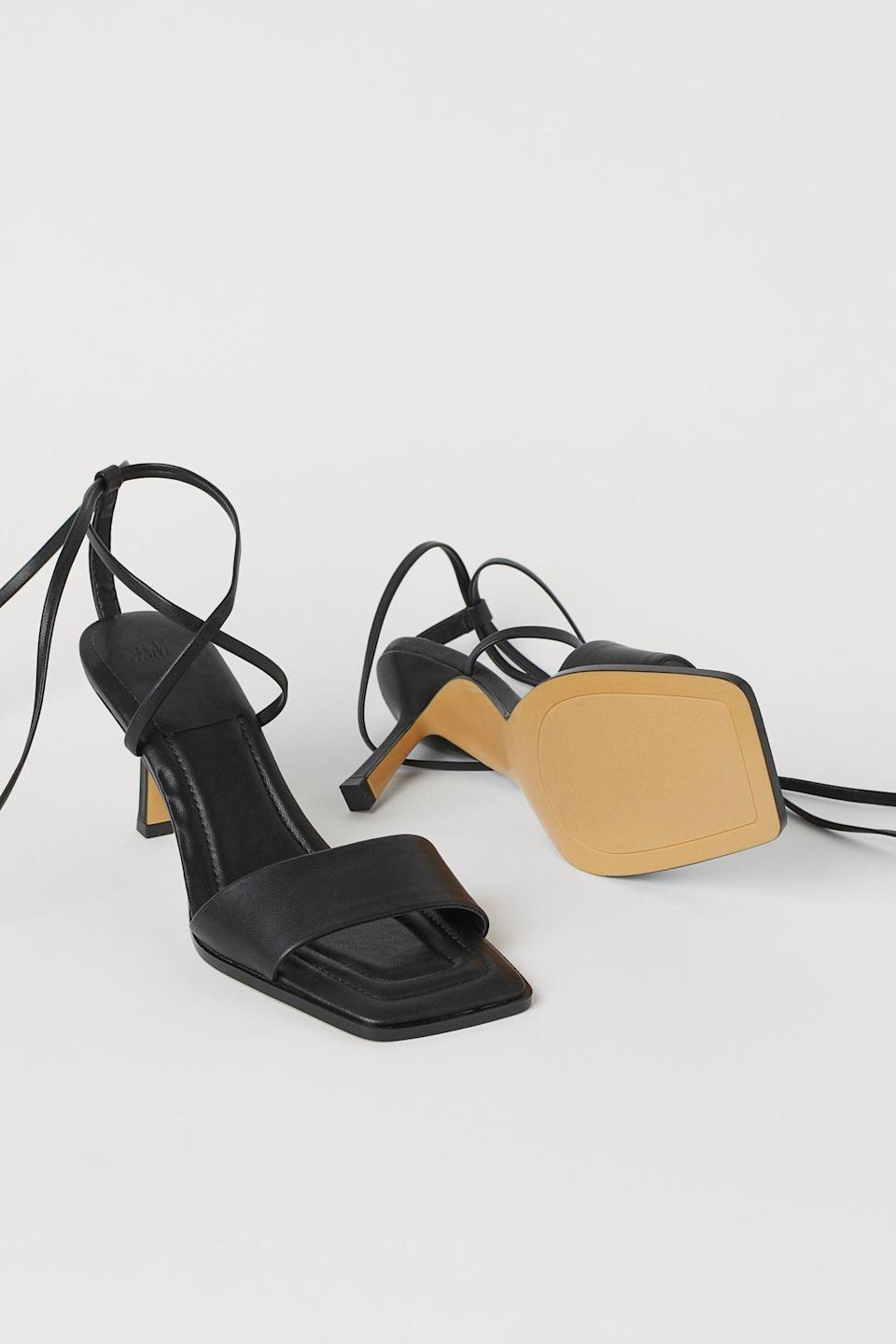 <p>These <span>Tie-strap Sandals</span> ($35) will pair nicely with your favorite Bermuda shorts, or polished ankle-length trousers.</p>