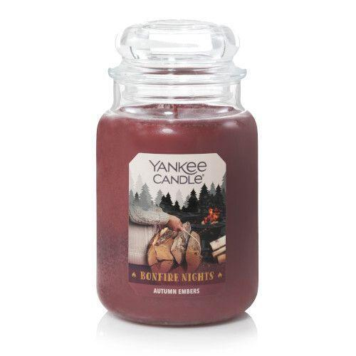 """<p>yankeecandle.com</p><p><strong>$29.50</strong></p><p><a href=""""https://go.redirectingat.com?id=74968X1596630&url=https%3A%2F%2Fwww.yankeecandle.com%2Fproduct%2Fautumn-embers%2F_%2FR-1629390&sref=https%3A%2F%2Fwww.countryliving.com%2Fdiy-crafts%2Fg2655%2Fseasonal-candles%2F"""" rel=""""nofollow noopener"""" target=""""_blank"""" data-ylk=""""slk:Shop Now"""" class=""""link rapid-noclick-resp"""">Shop Now</a></p><p>From the Bonfire Nights collection, this new scent from Yankee Candle offers everything we want from a fall candle: apple, spice, and smoky firewood.</p>"""