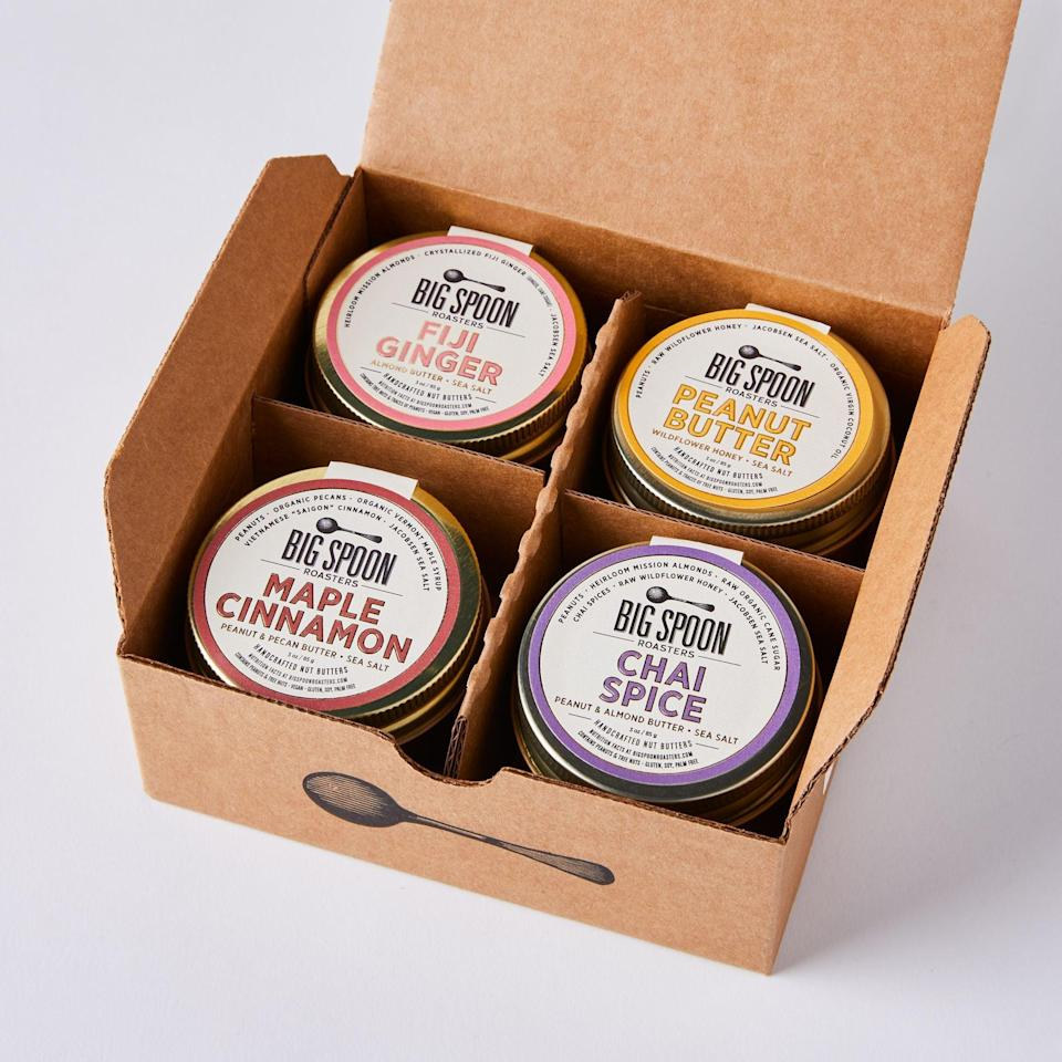 <p>I bet this <span>Big Spoon Roasters Mini Nut Butter Sampler Box</span> ($36-$40) is delicious.</p>