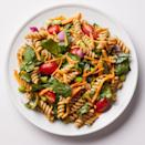 <p>Edamame gives this veggie-packed vegan pasta salad a bit of feel-full protein. Serve topped with extra freshly ground pepper, if desired.</p>