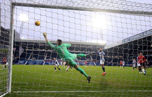 Harry Maguire was denied a late winner at West Brom by Albion goalkeeper Sam Johnstone