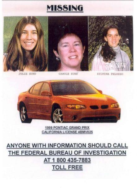 PHOTO: Carole Sund, her daughter Juli Sund and friend Silvina Pelosso were missing for a month before their bodies were found. ((Courtesy of Jeff Rinek))