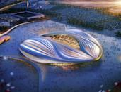 A computer generated image of the proposed 40,000 capacity Al-Wakrah stadium, also to be built in Qatar ahead of the 2022 World Cup
