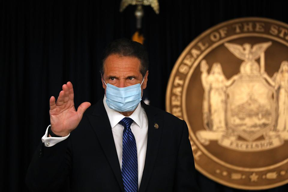 Gov. Andrew Cuomo is facing increasing criticism for deaths in New York nursing homes. (Photo: Spencer Platt via Getty Images)