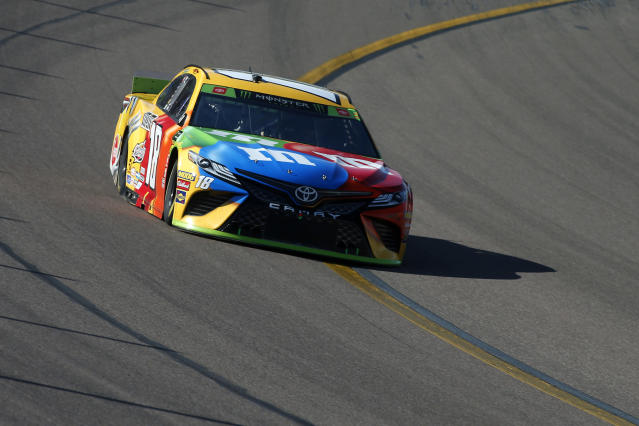 Kyle Busch hasn't won since the first Pocono race of the season. (AP Photo/Ralph Freso)