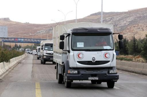 Aid convoy enters besieged Syria town of Madaya: Red Crescent