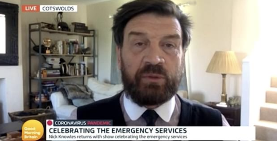 Nick Knowles appeared on GMB and spoke about helping out Captain Tom Moore and his family. (ITV)