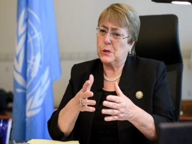 UN rights chief Michelle Bachelet warns climate change is a global threat to human rights, says 'Amazon fires are burning up our future'