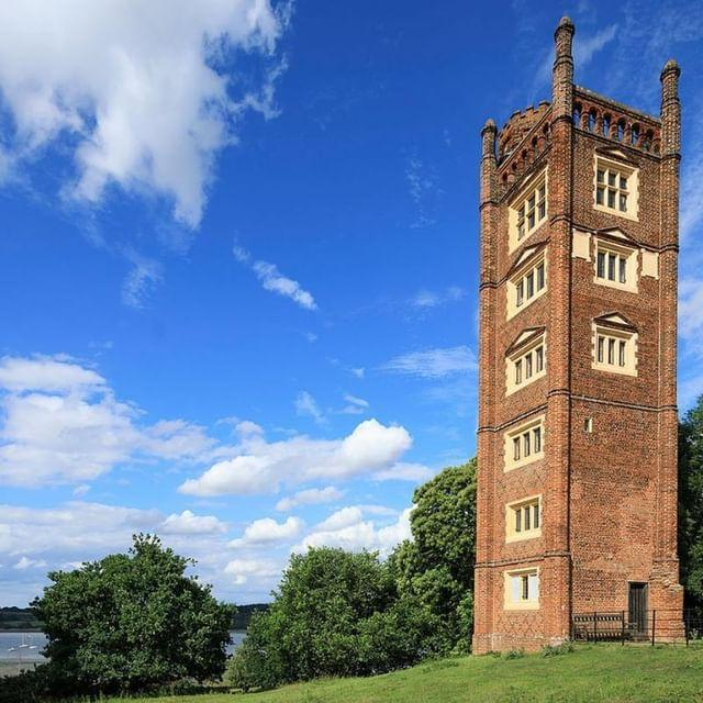 """<p>What better way to impress queen bess than to create a spectacular six-storey folly? Rumour has it that when Suffolk merchant and mercer Thomas Gooding caught wind of Elizabeth I's summer sojourn to Ipswich in 1579, he built Freston Tower to showcase his wealth and wherewithal. This imposing red-brick steeple has 26 mullioned windows and a rooftop where you can look out across the Orwell Estuary and acres of oak, cedar, sweet chestnut and beech trees. Book a stay and play Queen (or King) for the day.</p><p><a class=""""link rapid-noclick-resp"""" href=""""https://www.landmarktrust.org.uk/search-and-book/properties/freston-tower-7680/#Overview"""" rel=""""nofollow noopener"""" target=""""_blank"""" data-ylk=""""slk:MORE INFO"""">MORE INFO</a></p><p><a href=""""https://www.instagram.com/p/BuEpnoYAAQu/"""" rel=""""nofollow noopener"""" target=""""_blank"""" data-ylk=""""slk:See the original post on Instagram"""" class=""""link rapid-noclick-resp"""">See the original post on Instagram</a></p>"""