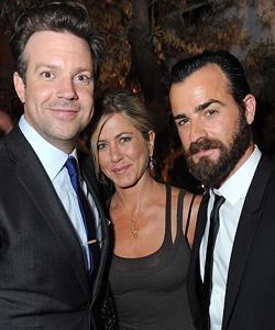 Jason Sudeikis, Jennifer Anistion, and Justin Theroux Jordan Strauss/Wireimage.com