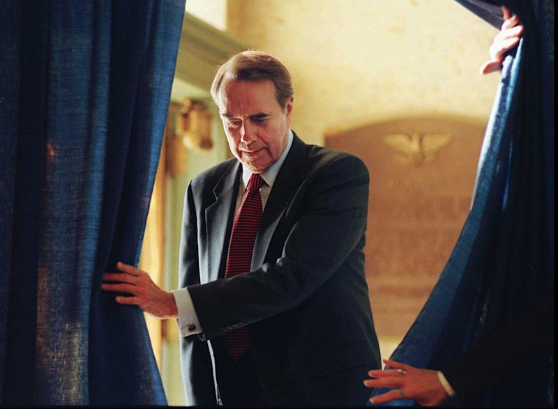 Sen. Bob Dole gave the response to Clinton in 1996. Later that year, he ran against Clinton and lost.   Charlie Neibergall—AP