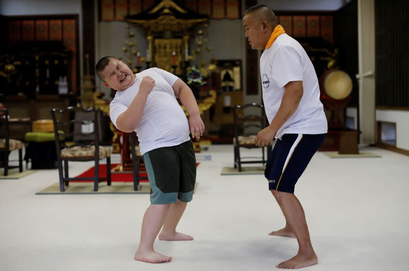 The Wider Image: Meet Kyuta: the 10-year-old, 85-kilo sumo in training