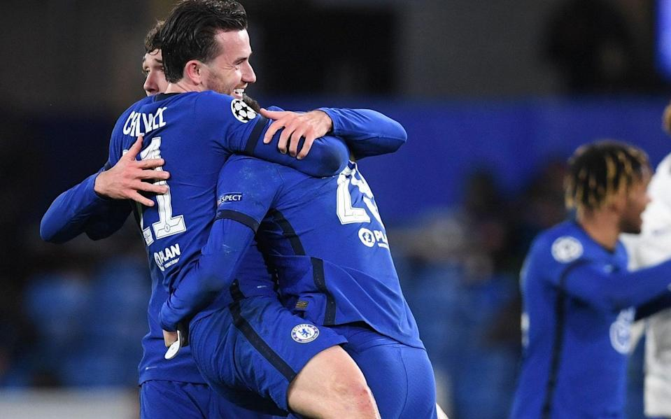 Chelsea celebrate beating Real Madrid to reach the Champions League final - SHUTTERSTOCK