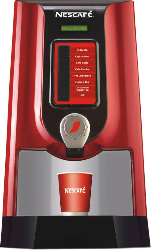 Nescafe's new contactless coffee machine