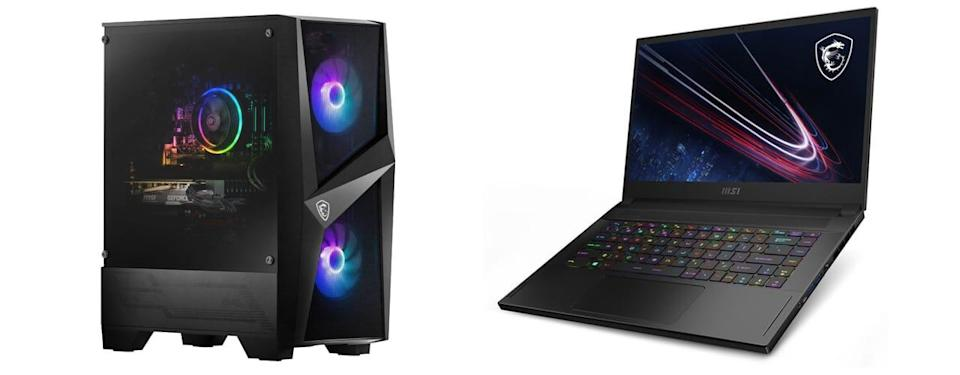 gaming computer and laptop