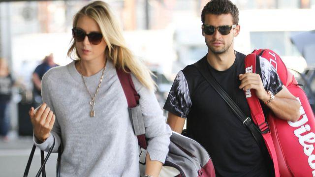 Sharapova and Dimitrov. Image: Getty