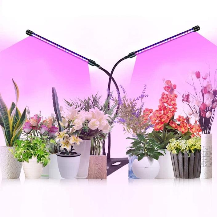 <p>The <span>Full Spectrum Growing Lamps With Timer</span> ($14, originally $17) come with nine levels of brightness for different stages of plant growth such as seed germination and flowering. </p>