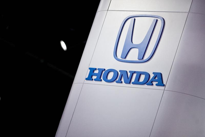 The Honda logo is seen at the 2008 North