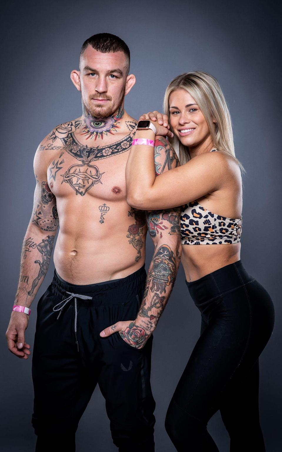 Husband and wife MMA fighters Austin Vanderford and Paige VanZant - Lucas Noonan/Bellator