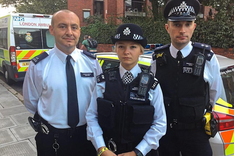 Pc Deniz Jaffer, Pc Agata Broniszewska and Insp Finbar King, above, have all been assaulted while on duty