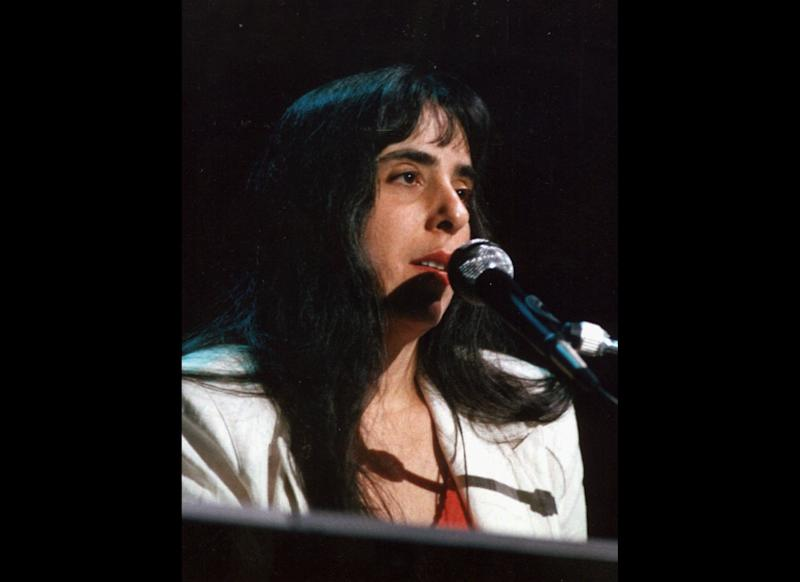 FILE--Laura Nyro is seen in this file photo from June 24, 1988, performing a song in Northhampton, Mass. Nyro, a singer-songwriter, who influenced a generation of women artists with songs like ``Eli's Coming'' and ``Stoned Soul Picnic'' and her intimate blend of pop, folk and jazz, has died at age 49, Tuesday, April 8, 1997, at her home in Danbury, Conn., of ovarian cancer. (AP Photo/Hartford Courant,Roland Otero)