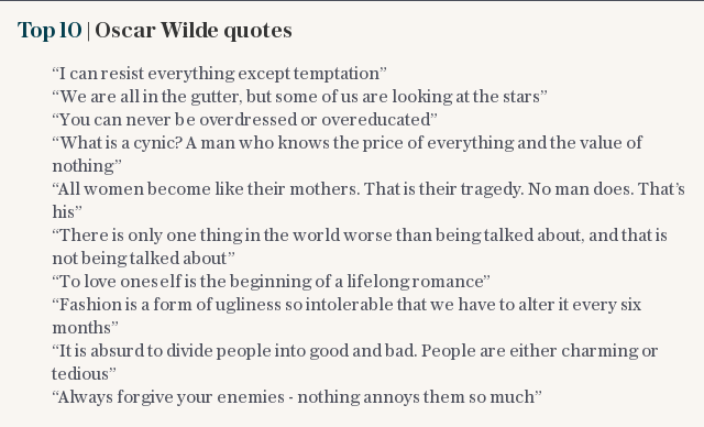 Top 20 | Oscar Wilde quotes