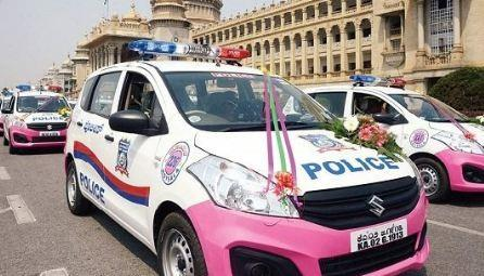 pink Hoysala patrol vehicles