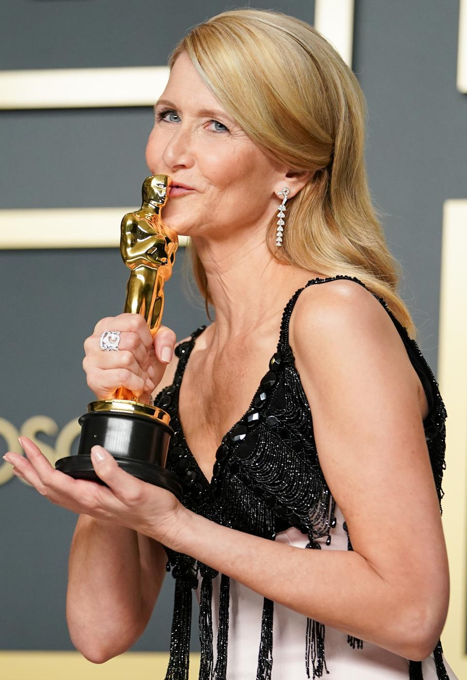 "Laura Dern took home best supporting actress for her role in Netflix's ""Marriage Story"""