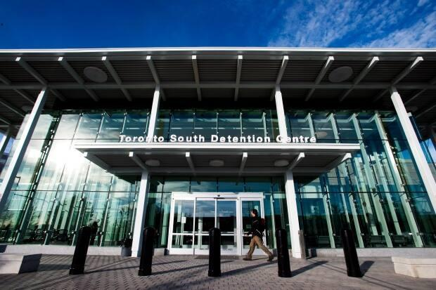 The outside of the Toronto South Detention Centre. Some 70 positive COVID-19 cases have been linked to the facility, Toronto Public Health says.  (Nathan Denette/Canadian Press - image credit)
