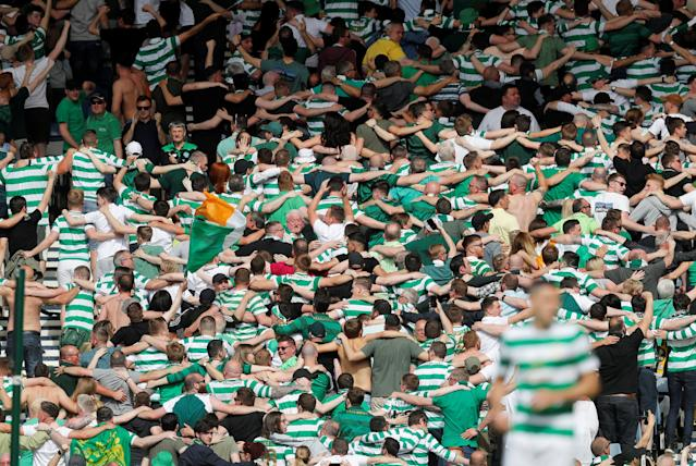Soccer Football - Scottish Cup Final - Celtic vs Motherwell - Hampden Park, Glasgow, Britain - May 19, 2018 Celtic fans during the match REUTERS/Russell Cheyne
