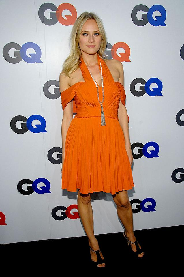 "Diane Kruger (""National Treasure"") disappoints in this tangerine dud. Dimitrios Kambouris/<a href=""http://www.wireimage.com"" target=""new"">WireImage.com</a> - September 18, 2007"