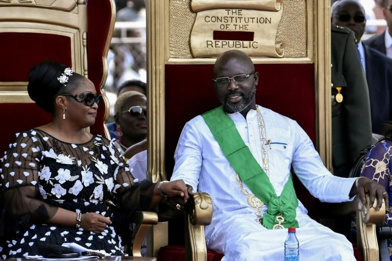 Weah was sworn in front of an ecstatic crowd of thousands