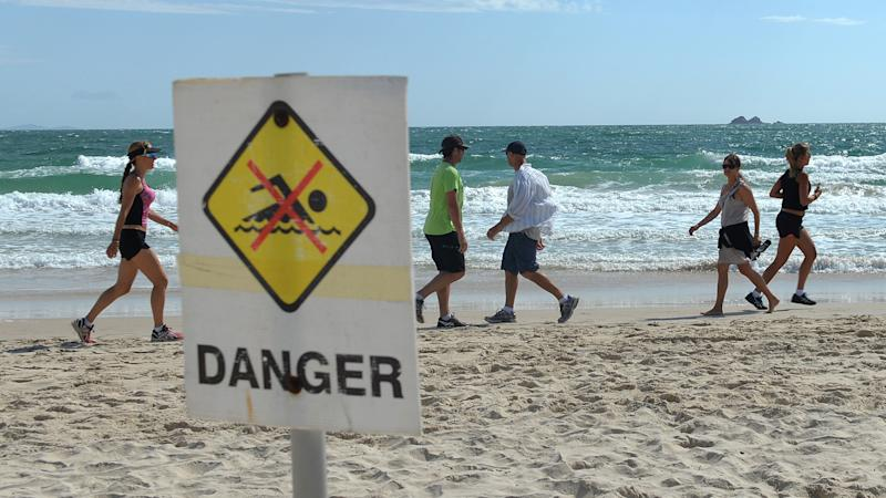 Shark spotters will scour the Newcastle coastline before a decision is make to reopen beaches.