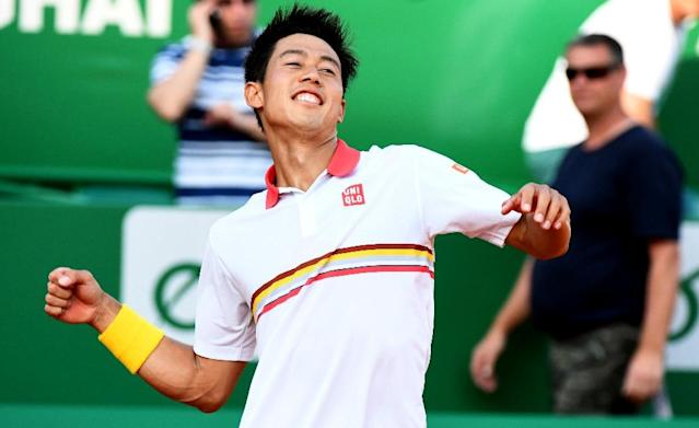Kei Nishikori has turned around his fortunes in Monte Carlo and reached the final by beating Alexander Zverev (AFP Photo/YANN COATSALIOU)