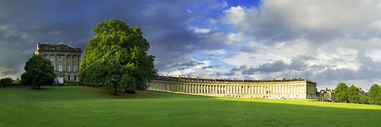 The Royal Crescent, Bath: The shaft of glorious late-afternoon light which illuminates Alex Hare's photo only lasted a couple of minutes, but was enough for his eye-catching image, for which he was highly commended in the urban category. (Alex Hare, Landscape Photographer of the Year)