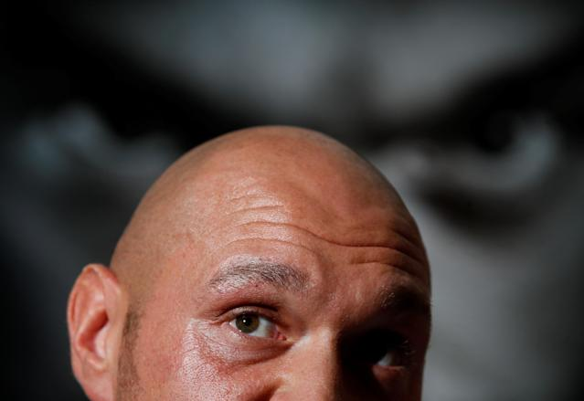 Boxing - Tyson Fury & Sefer Seferi Press Conference - The Midland Hotel, Manchester, Britain - June 6, 2018 Tyson Fury during the press conference Action Images via Reuters/Jason Cairnduff