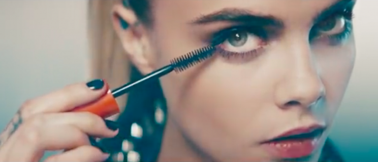 0a82c548171 A Rimmel ad featuring Cara Delevingne has been banned by the ASA [Photo:  YouTube