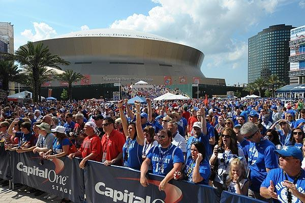 Fans flocked to the Superdome for the 2012 Final Four