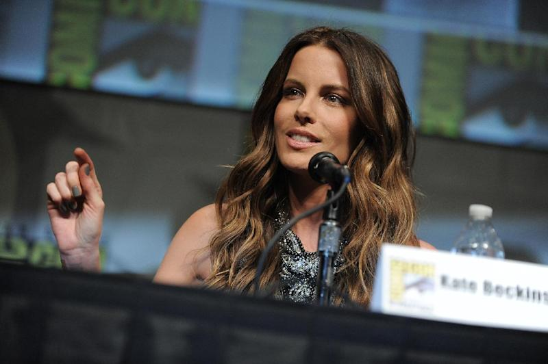 """CORRECTS DATE TO FRIDAY JULY 13 - Kate Beckinsale attends the """"Total Recall"""" panel at Comic-Con on Friday, July 13, 2012 in San Diego, Calif. (Photo by Jordan Strauss/Invision/AP)"""
