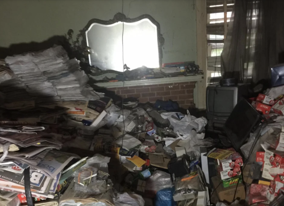 Clutter is seen inside the home of Bruce Roberts in Greenwich.