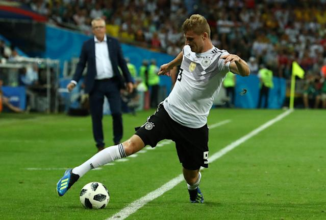 Soccer Football - World Cup - Group F - Germany vs Sweden - Fisht Stadium, Sochi, Russia - June 23, 2018 Germany's Timo Werner in action REUTERS/Pilar Olivares