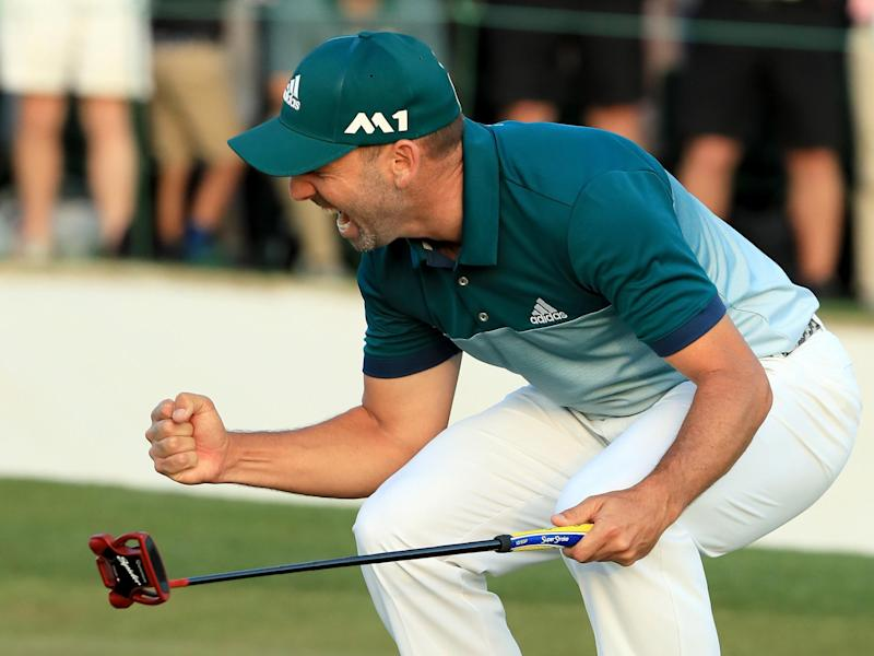 Garcia roars in triumph after beating Rose in the play-off: Getty