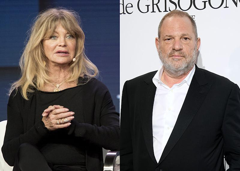 "Goldie Hawn and Harvey Weinstein worked together on an early version of ""Chicago."" (Photo: Getty Images)"