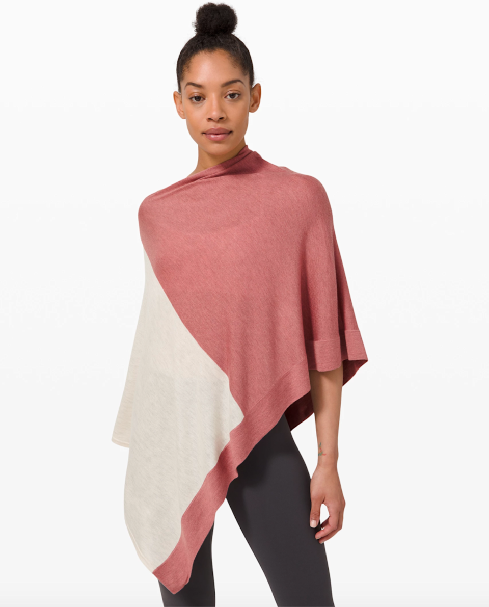 "<h3><a href=""https://shop.lululemon.com/p/women-sweaters-and-wraps/Yin-Poncho-MD/_/prod8901303"" rel=""nofollow noopener"" target=""_blank"" data-ylk=""slk:lululemon Yin Poncho"" class=""link rapid-noclick-resp"">lululemon Yin Poncho</a></h3><br>Your mother-in-law will adore wrapping herself up in this extra layer of bamboo-meets-cashmere goodness that could work as both poncho and scarf. <br><br><strong>lululemon</strong> Yin Poncho, $, available at <a href=""https://go.skimresources.com/?id=30283X879131&url=https%3A%2F%2Fshop.lululemon.com%2Fp%2Fwomen-sweaters-and-wraps%2FYin-Poncho-MD%2F_%2Fprod8901303"" rel=""nofollow noopener"" target=""_blank"" data-ylk=""slk:lululemon"" class=""link rapid-noclick-resp"">lululemon</a>"