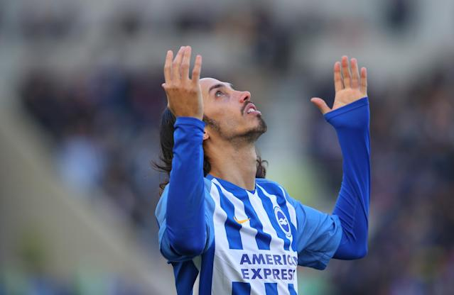 "Soccer Football - Premier League - Brighton & Hove Albion vs Swansea City - The American Express Community Stadium, Brighton, Britain - February 24, 2018 Brighton's Ezequiel Schelotto before the match REUTERS/Hannah McKay EDITORIAL USE ONLY. No use with unauthorized audio, video, data, fixture lists, club/league logos or ""live"" services. Online in-match use limited to 75 images, no video emulation. No use in betting, games or single club/league/player publications. Please contact your account representative for further details."