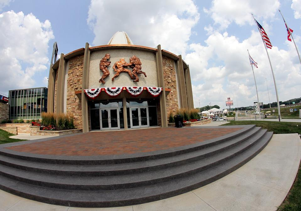 CANTON, OH - AUGUST 04: A general view of the Pro Football Hall of Fame Museum on August 04, 2018, at Tom Benson Hall Of Fame Stadium in Canton, Ohio. (Photo by Daniel Kucin Jr./Icon Sportswire via Getty Images)