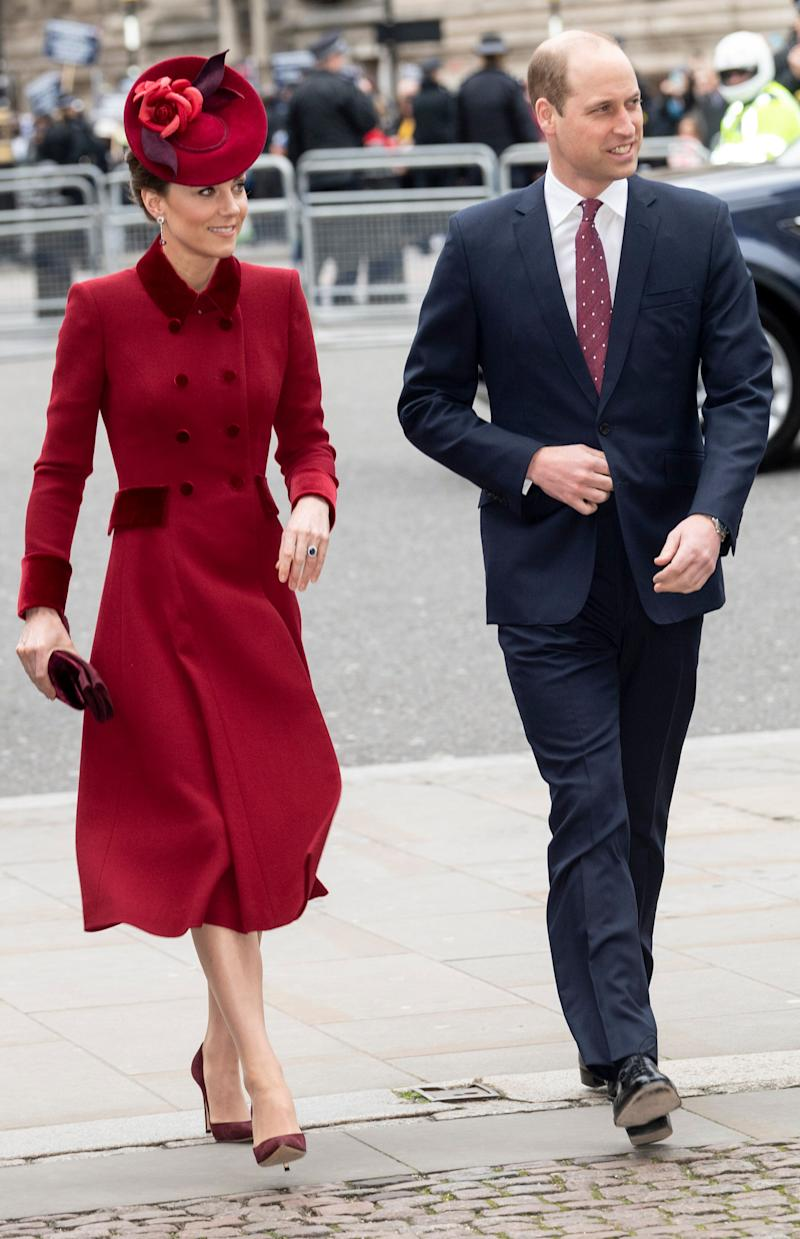 The Duke and Duchess of Cambridge attend the Commonwealth Day Service on Monday, March 9, 2020. (Photo: Mark Cuthbert via Getty Images)